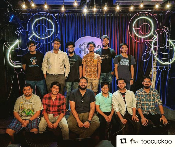 About last night. Baaki ke performers bhaag gaye khudka set khatam karke😂  This show was a content end to my this time's trip to Mumbai. In love with the room. I will come again sooooon. Special thanks to Sudiep and Ajit from the Cuckoo Club to help me make my performance right.  #thecuckooclub#openmic