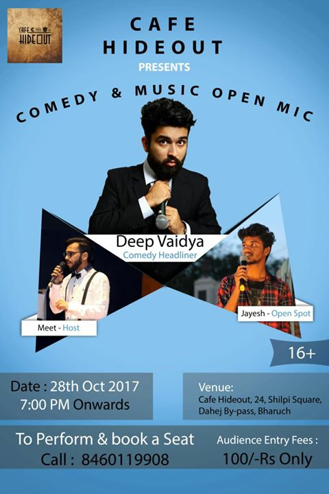 TONIGHT IN BHARUCH. Testing my new songs and jokes in this gig.   Aajao if you are from Bharuch : )  #comedyopenmic #livegigs #bharuch #musicopenmic #openmics #aarizsaiyed