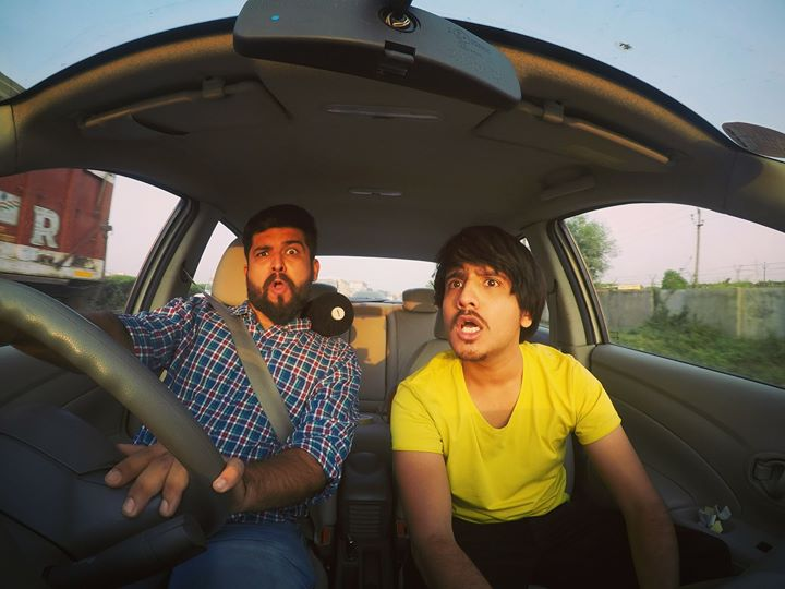 Deep Vaidya and me are on our way to our first  open mic gig in Bharuch city 😄🤘  #gopro #hero5 #gigs #openmic