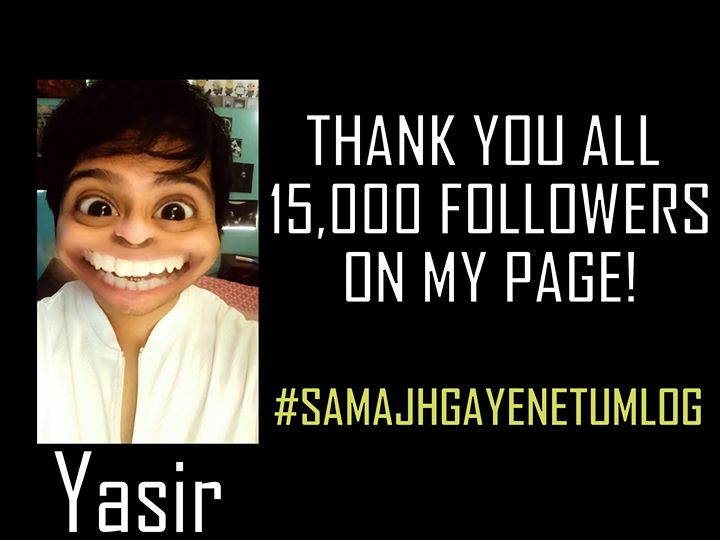 This is one annoying yet funny character I have created using a snapchat filter. I am gonna post a series of his videos starting this weekend!  Thank you for the love you guys now,    BRACE YOURSELVES for YASIR😄✌  #samajhgayenetumlog #snapchatfilter