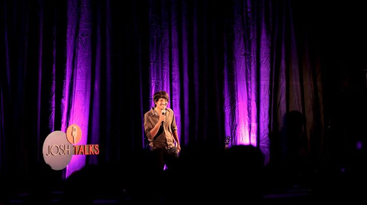 I talked about my life as a multi- tasker trying to balance my love for music, Stand up comedy and film making as my profession. Here you see some pictures of me from my speech and performance at Josh Talks.