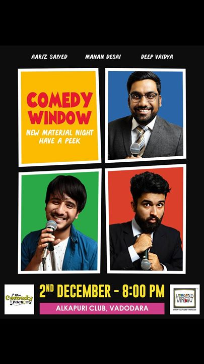 Performing Stand up comedy tonight 8pm at The Alkapuri Club. Entry fee is really cheap. Come down Barodian friends :D  #weekendwindow #thecomedyfactory #vadodara #baroda
