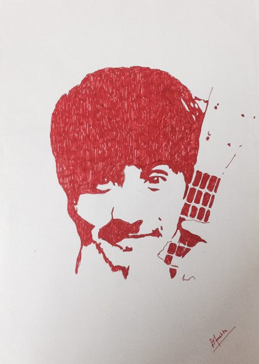 Shout out to Drupad Mehta  for making this stencil of me :)  This is really sweet and accurate.  #sketchme #aarizsaiyed #stencils