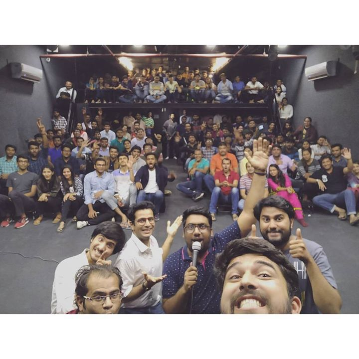 That weird expressions selfie with the audience in the end of the show is a must.  #thecomedyfactory