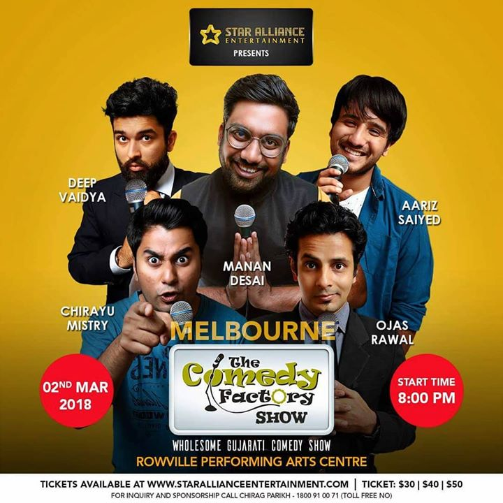 Tonight in Melbourne. If you have seen our Brisbane and Sydney show video then you know this is something no Gujju in Melbourne should miss! Its a 2hrs laughter riot power packed show.  There are still some tickets left✌🏻 Tickets available on  www.starallianceentertainment.com