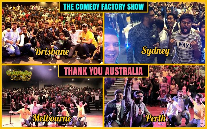 Flashback Friday to our shows in Australia.  Thank you so much to our Aussie Gujju friends who turned out and supported our shows with so much of excitement and love for us.  Thank you The Comedy Factory for giving me this stage and platform to showcase my talent and Thank you so much to the best promoter in the world Mr. Chirag Parikh from star alliance entertainment for making us feel like home and making sure our tour is super hit😎✌🏻  This was a great start to our international tours, Yeh toh bus shuruaat hai :)  #tcfinaustralia