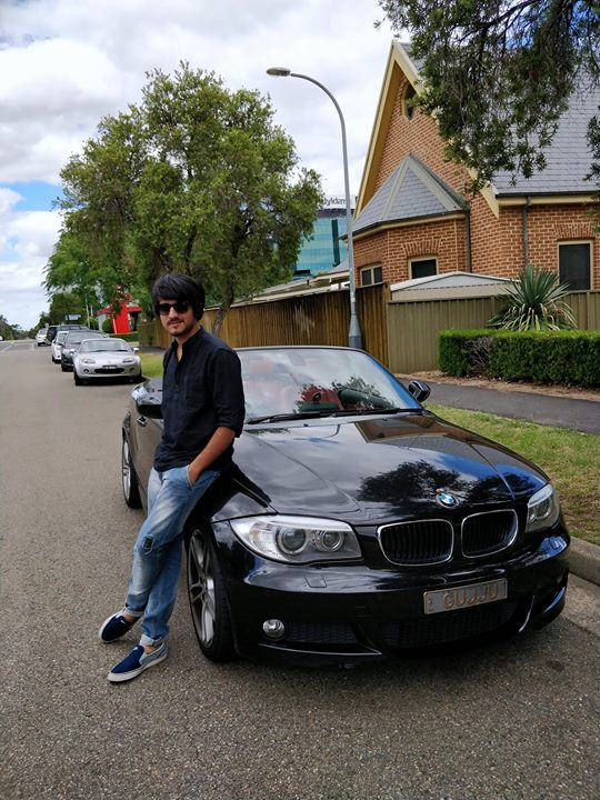 Is there something like a throwback WEDNESDAY post? Nevermind I still posted this.  P.S: Dusro ki car pe pose dene main alag he swag hai. (Also notice the number plate)  Car courtesy: Foram Parikh Picture courtesy: Ojas Rawal  #throwback #sydney
