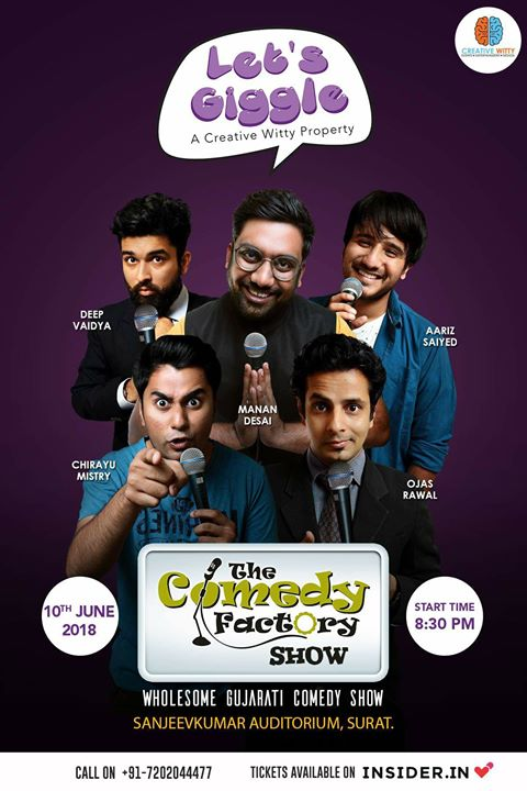 Any Surat friends you have? Please tag them in this and help me spread the word 🙌🏻 Big show in Surat on 10th june :)  #thecomedyfactory #surat