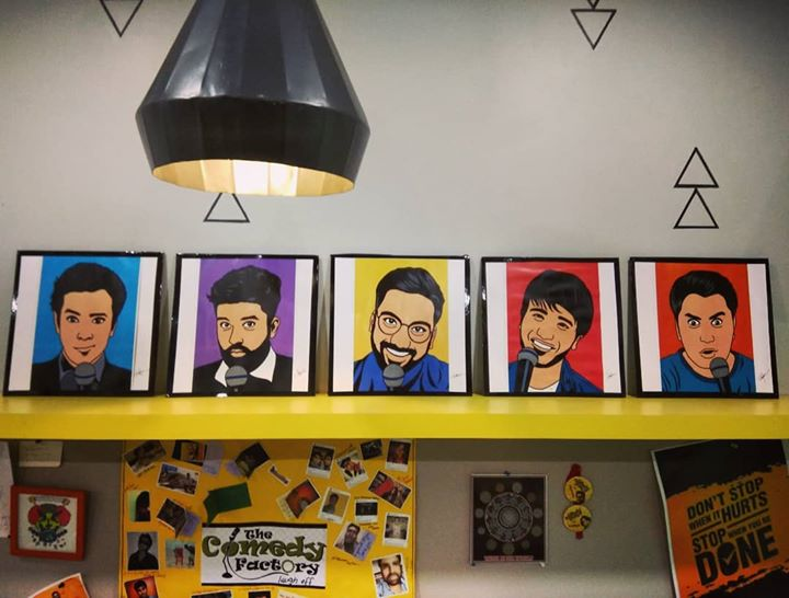 Shout out to @whojay_ for these wonderful frames he painted digitally to gift us right after our Vadodara show :)   #thecomedyfactory#fanart#ilovemyfans#thankyouforthislife