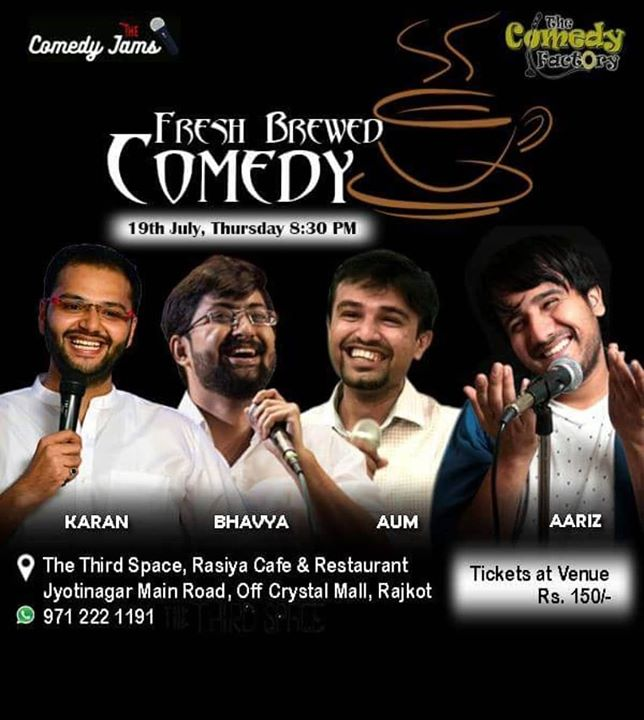 Performing tonight in Rajkot at the Third space, come if you in town?