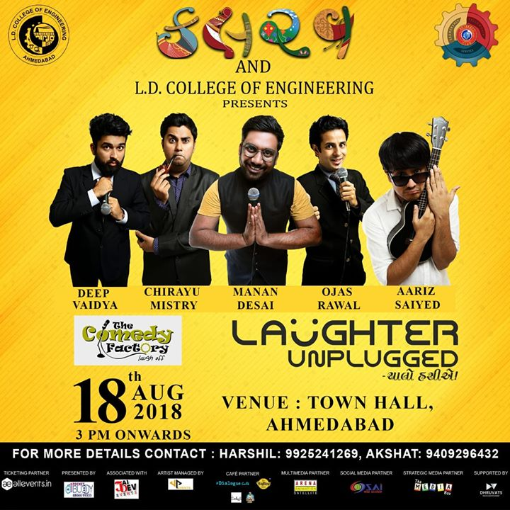 Performing in Ahmedabad on 18th of August this Saturday :) tickets available on spot, come down :D
