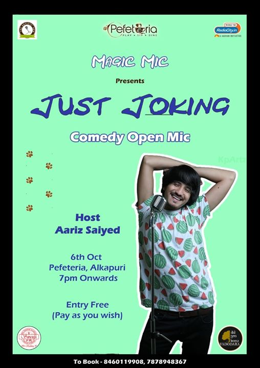 This is a FREE ENTRY comedy open mic happening in Vadodara tomorrow. Come down for some weekend fun woh bhi Bilkul MUFT! 😁