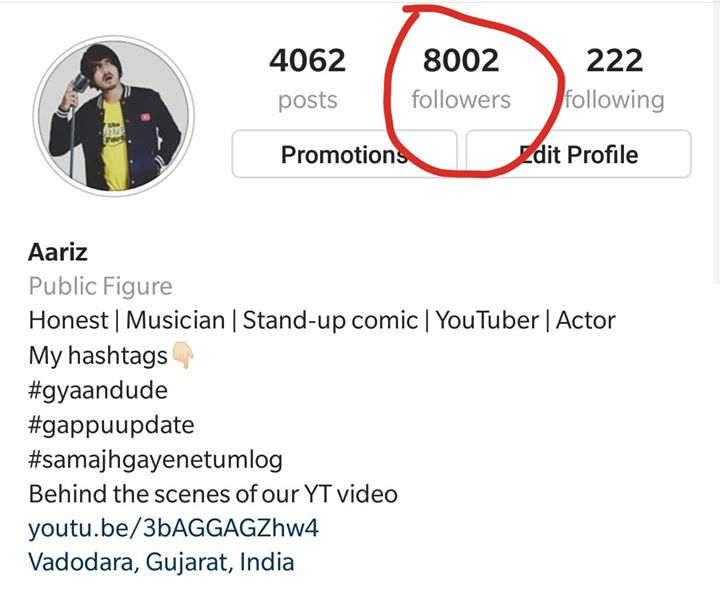 I just crossed 8k followers on Instagram,  Meri personal life main aur zyada JHAAKNA HO toh aajao follow me there 😅