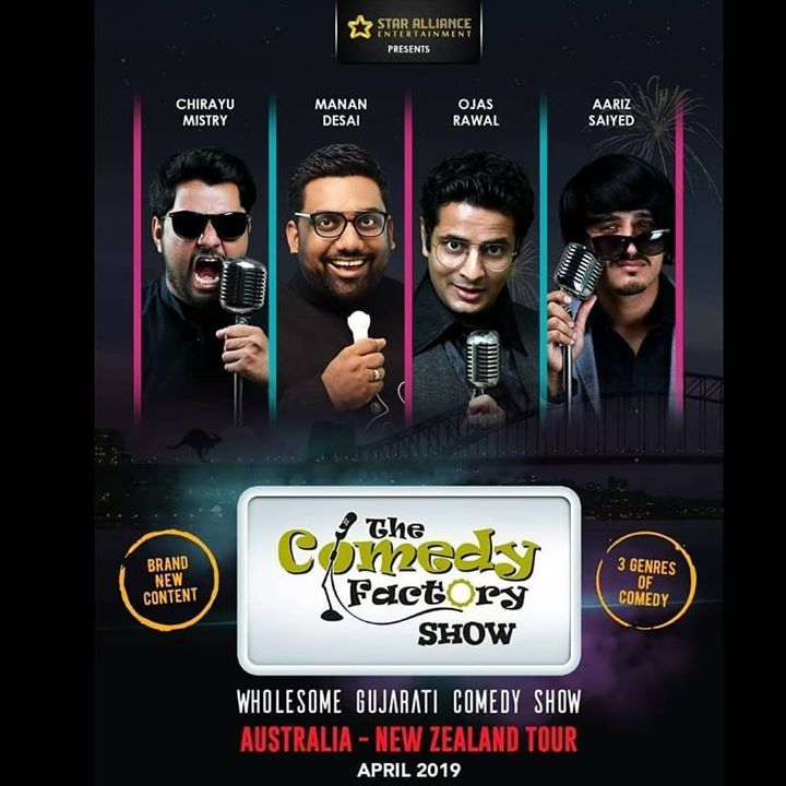 Well hello 2019.  The Comedy Factory is coming to Australia, New Zealand and USA with our Whole New Show. 2019 ko rock karr daalenge.  To sponsor or promote or organize or book our show for you city, contact Chirag Parikh of Star Alliance Entertainment for Australia and New Zealand.  And contact Amit Pathak from Be United and Meetul Patel from Dream Merchantz for USA.  ચોક્કસ થી આવજો.