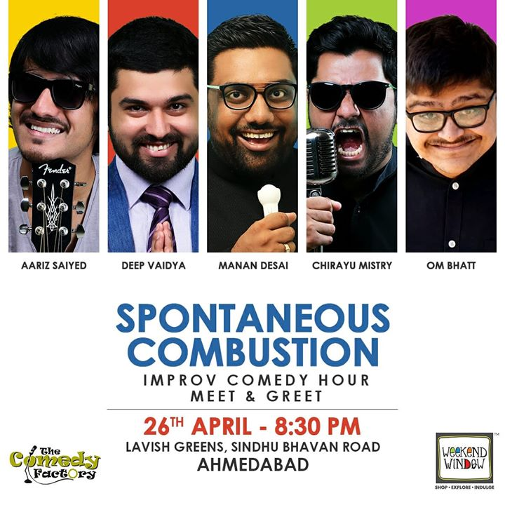 Improv show tonight in Ahmedabad.