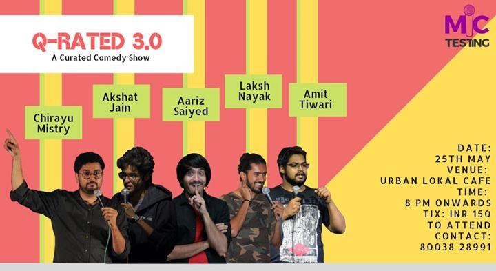 Stand up comedy show tonight in Vadodara Near Natubhai circle at Urban Lokal Cafe 8pm onward.