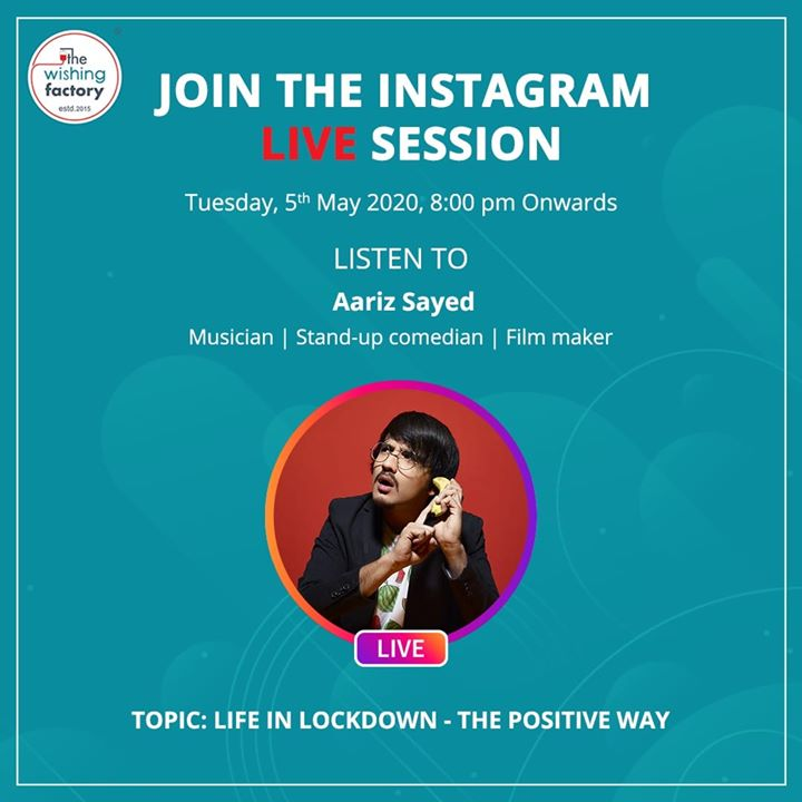 Doing a live session on instagram tonight, aajao for a productive session :)