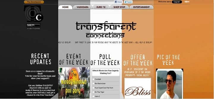 Check out this website called Transparentconnections.com guys and girls, its a website for all the youths of Vadodara! Make your account today and have fun starting now!