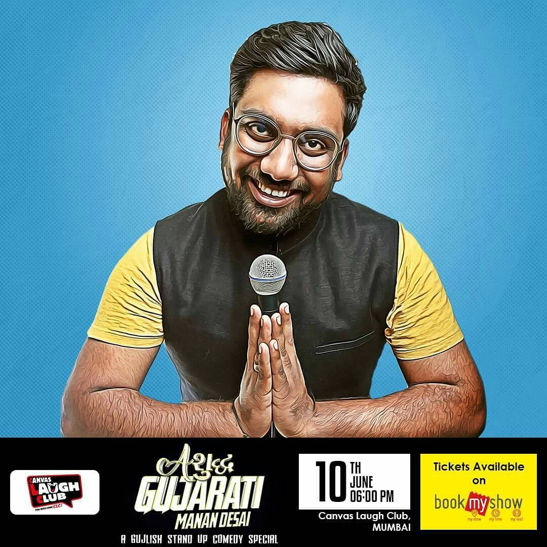 No show in our city?SAY NO MORE! This is a very special show for us all and of course for @instafunny_manan . Tons of hilarious observations packaged in 1 special Gujlish show. Mumbai, Vadodara, Surat, Ahmedabad. Book your tickets today for your city on BOOKMYSHOW! @thecomedyfactoryindia started a scene in Gujarat, I guess you can pretty much support us by coming for this show right?:) right. See you there. #manandesai#ashudhgujarati#gujjus#vadodara#surat#ahmedabad#mumbai#gujarat#gujaraticomedy#gujarati#gujju