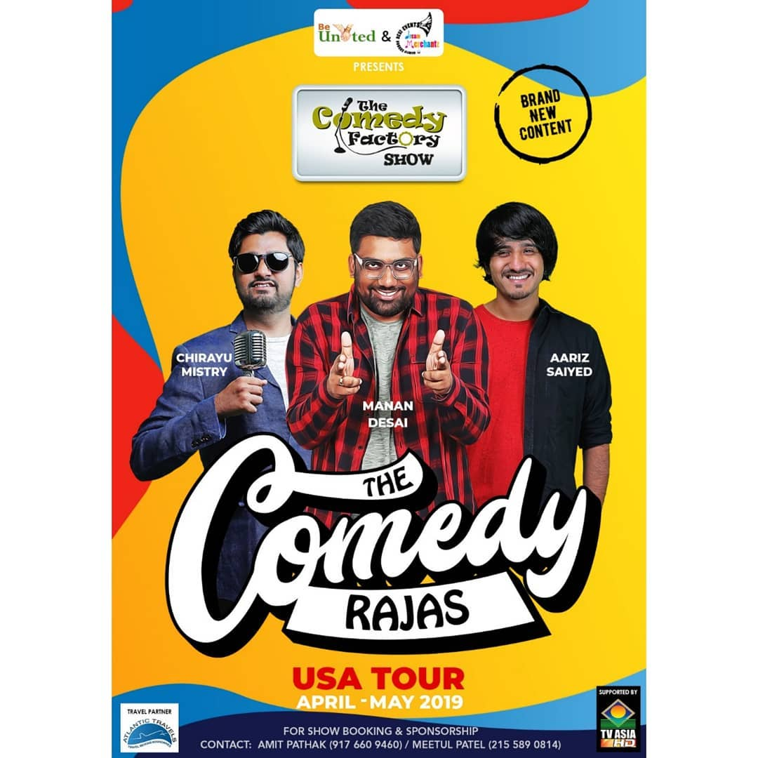 Starting our 2019 tour from USA. If you want us to perform in your city for aapdu Gujju audience then message or drop us an email at thecomedyfactoryindia@gmail.com  મલિયે ત્યારે 😁🤘🏻