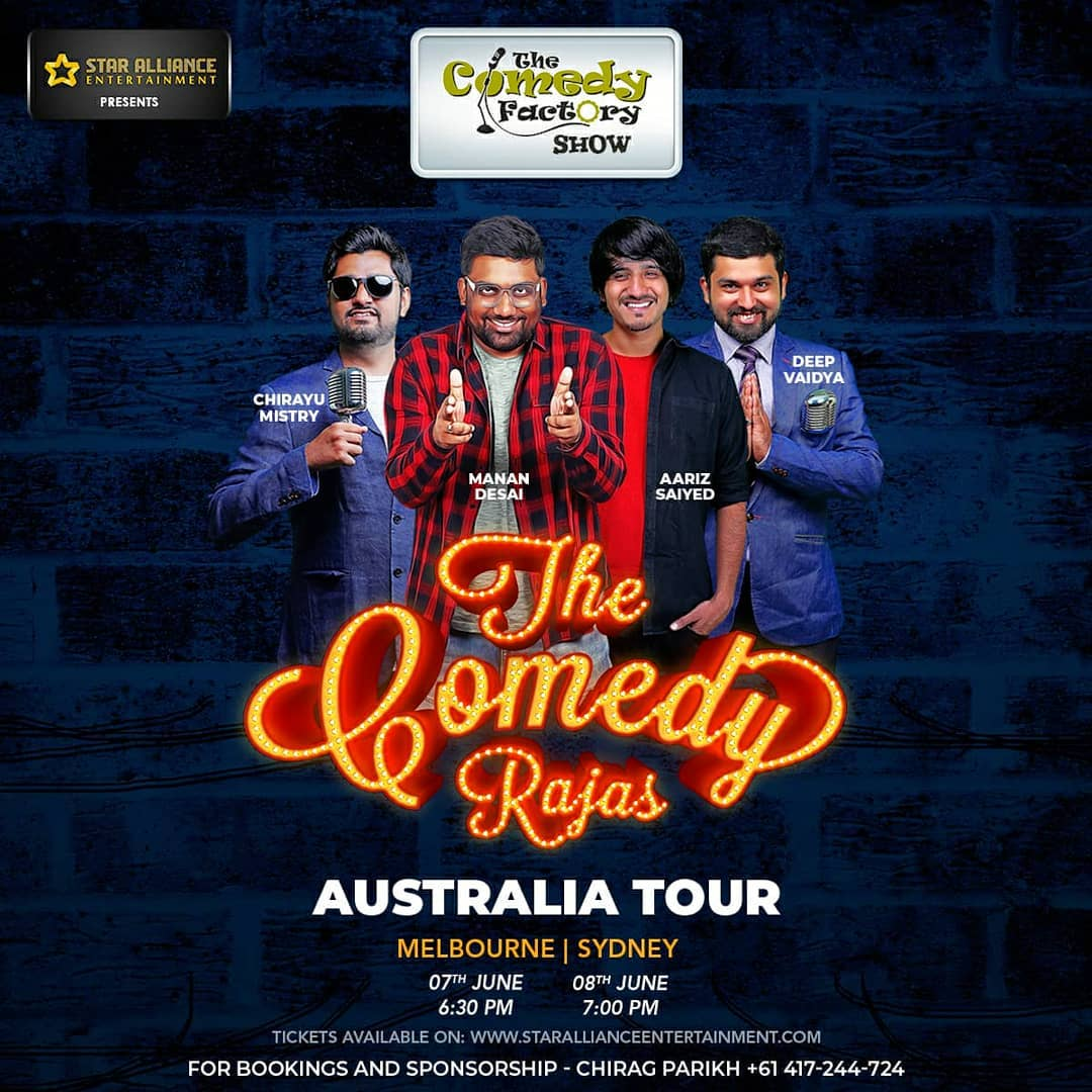 Stand-up comedy, Musical comedy, Improv comedy all in one show. Please inform your friends and family in Melbourne and Sydney? Tonight in Melbourne Rowville Performing Arts Centre gates open 6:30pm. Limited seats left, available on spot.  #melbourne #sydney #gujjus #gujarati #gujju #australia