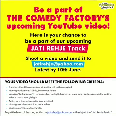 Yeh beat pe dance karo, record the video and email it to jatirehje@yahoo.com and you will be a part of our next YouTube video 😃  #thecomedyfactory#indianyoutuber#jatirehje#youtubeindia#musicvideo